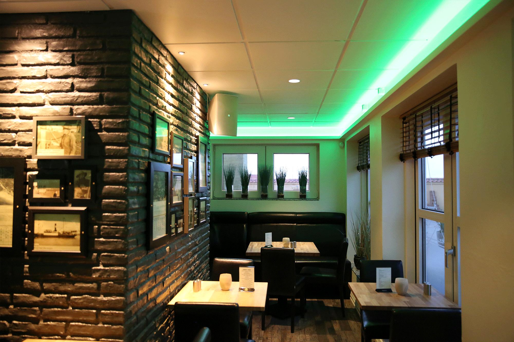 Case om restaurant Lilleheden/Café 2, som har skiftet til LED lys - LITE